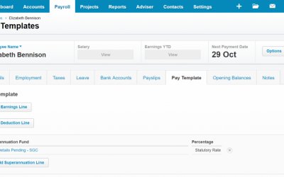 Changing Payroll Template in Xero to suit JobKeeper (2.58min)